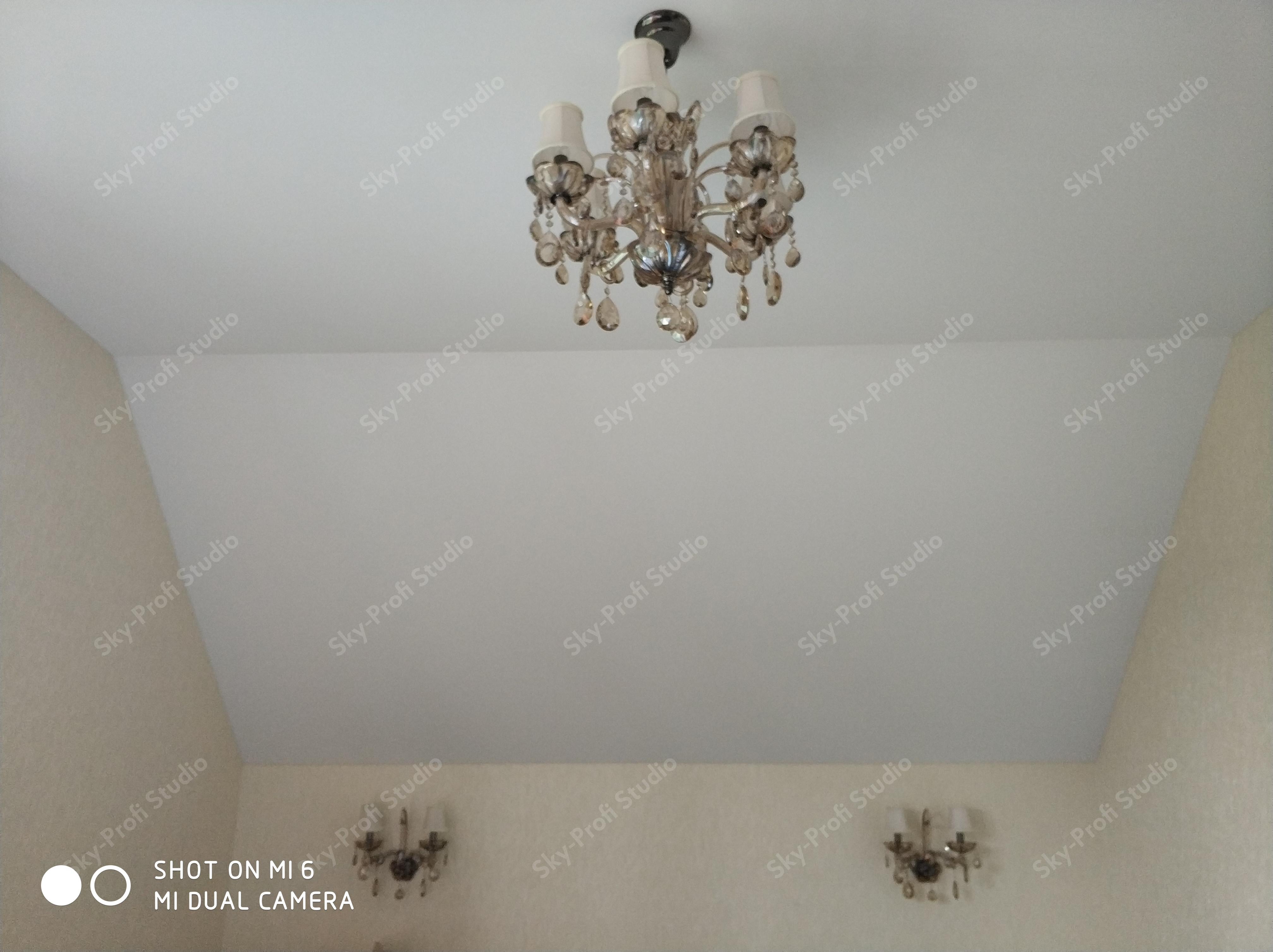 Натяжные потолки из ткани